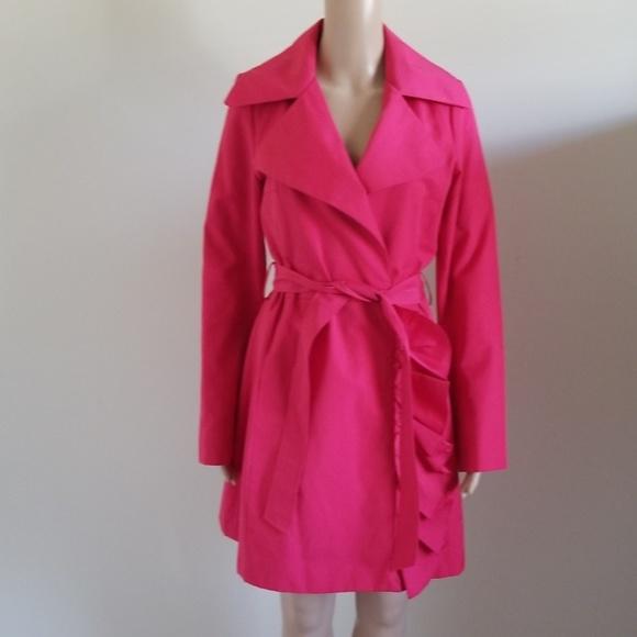 Black Rivet Jackets & Blazers - Black Rivet pink trench coat with belt size M